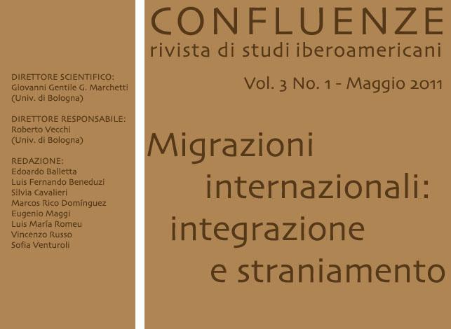 Visualizza V. 3 N. 1 (2011): Migrazioni internazionali: integrazione e straniamento